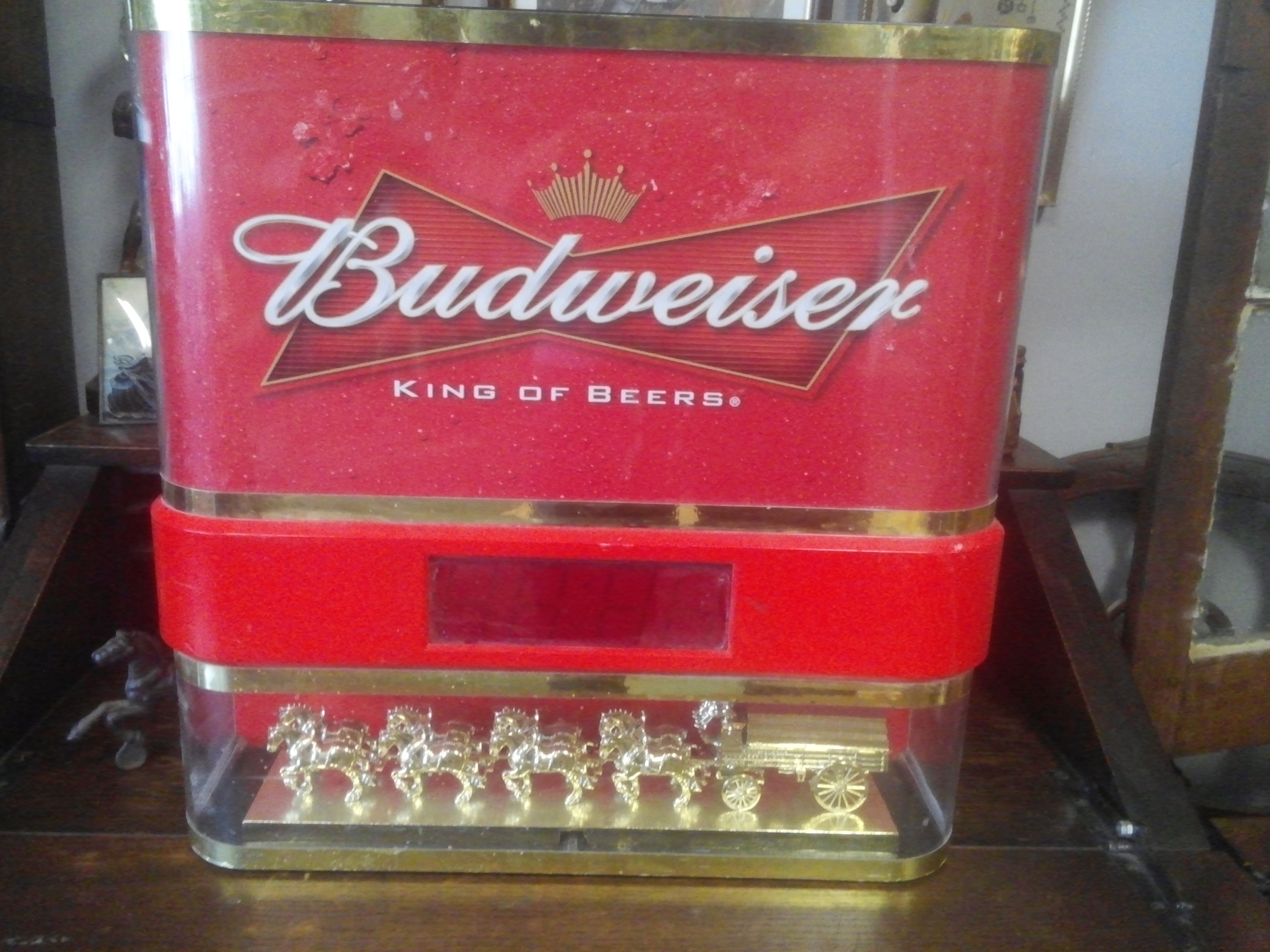 Budweiser Light Amp Clock Led Clydesdale Lamp Trade Nation